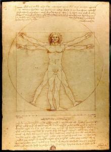 レオナルド・ダ・ヴィンチ作「ウィトルウィウス的人体図」