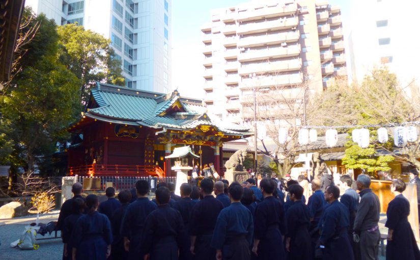 稽古はじめは、渋谷城にて