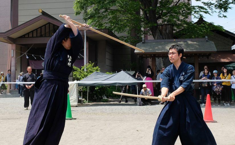 速報:杖道演武+体験コーナー@ひの新撰組祭り2019