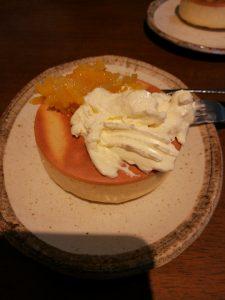 厚焼きホットケーキ ヨーグルトクリーム自家製ママレード