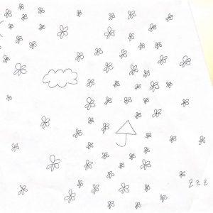 7月の中で1番充実していた日を描きました。 久しぶりに出かけた1日です! 縦軸がテンション(紙自体を折り、右側が下がるようにしました)、横軸が時間を表しています。 お花はその時の充実度(多ければ多いほど充実している)を表しています。 朝は久々に人と会える高揚感から来るワクワクがあり、予定が午後からだったのでその時間帯も充実度が高くなっています。《コロナで変わったこと》 ・良い点 →家の手伝いが出来るようになった!時間を有効活用できる点は良いなと思います。 ・悪い点 →早起きができなくなりました。授業開始ギリギリまで寝る生活が続いてしまっています。秋学期は対面とオンライン授業の組み合わせで行われるらしく、通学に2時間かかる私は不便だなぁと思います。 通学時間を考慮して時間割を組まないといけないので、対面なのか、オンラインなのか統一して欲しいです!